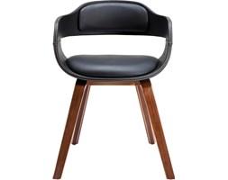 Kare Design Costa Walnut Krzesło Z Podłokietnikami Czarne - 78581