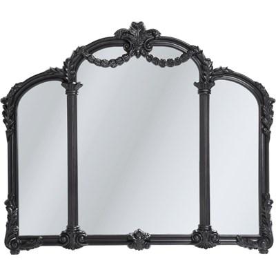 Kare Design Royal Tre Black Lustro Czarne Mdf Szkło 116x138 cm  - 78754