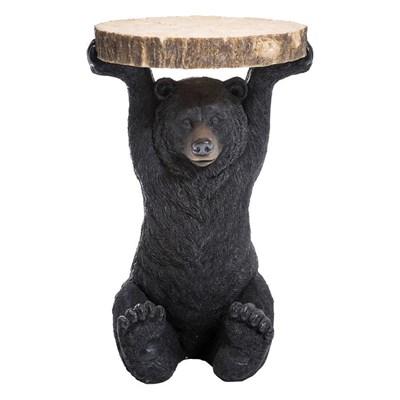 Kare Design Stolik Kawowy Bear Czarny Tworzywo Sztuczne - 76375