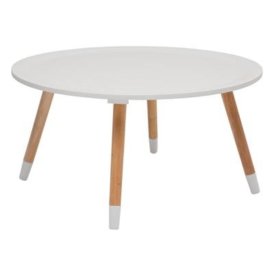 Kare Design Blossom Biały Stolik Kawowy, Biały Lakier Matowy 70cm  - 78240