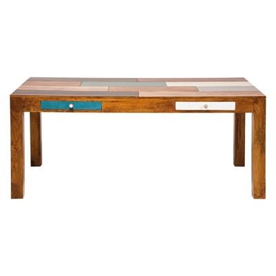 Kare Design Babalou Designerski Drewniany Stół 180x90cm Drewno Topoli lakierowone - 77755