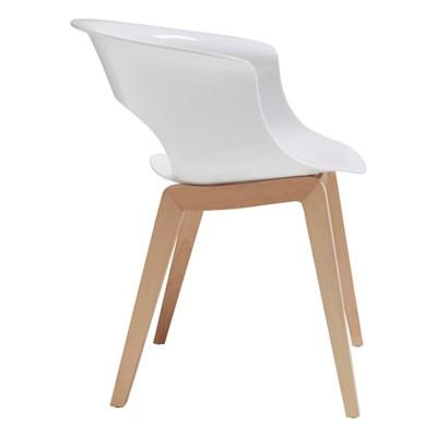 Machina Meble NATURAL MISS B Krzesło Białe Nogi Drewniane - 2800-FN-310