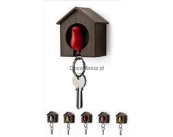 Wieszak na klucze - Qualy - Sparrow brązowa budka