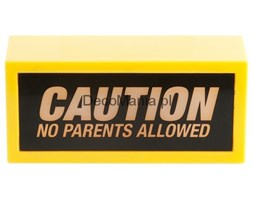 Lampka - Silly - Caution No Parents Allowed
