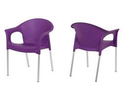 Actona Kalymnos Krzesło Fioletowe Matowe Tworzywo Sztuczne Aluminium - 0000040411