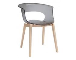 Krzesło Miss B natural Anthishock transparentne dymne