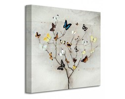 Tree Of Butterflies - Obraz na płótnie