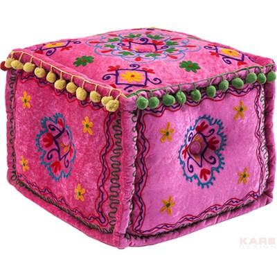 Kare Design Oase Pink Pufa Różowa Tkanina  - 79177