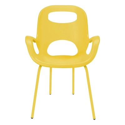 Umbra Oh Chair Żółte Krzesło z Podłokietnikami, Stal Tworzywo Sztuczne - 320150-438