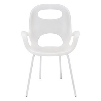 Umbra Oh Chair Białe Krzesło z Podłokietnikami, Stal Tworzywo Sztuczne - 320150-660