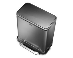 Kosz na śmieci pedałowy Steel Bar Recycler Simplehuman 48L