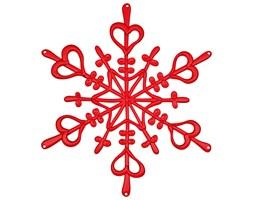 Ozdoba dekoracja świąteczna Koziol FLAKES czerwona L kod: KZ-1125536 - do kupienia: www.superwnetrze.pl
