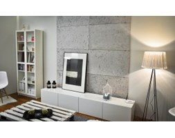 Panele ścienne 3D - Loft Design System - CONCRETE ivory white 60x60
