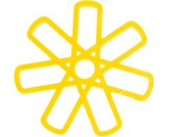 Podkładka silikonowa wz.2, żółta