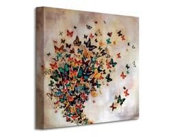 Butterflies On Pale Ochre - Obraz na płótnie