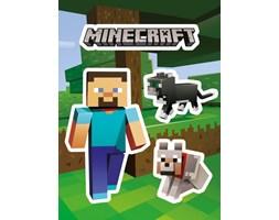 Minecraft Steve and Pets - naklejka