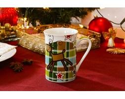Kubek świąteczny VERONI RENIFER KRATKA 300 ml - rabat 10 zł na pierwsze zakupy!