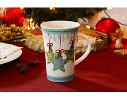 Kubek świąteczny VERONI OZDOBNE GWIAZDKI 320 ml - rabat 10 zł na pierwsze zakupy!