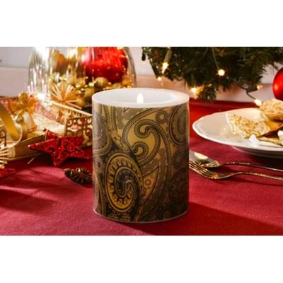 Świeca świąteczna / lampion PAW ELEGANT GLASS BALL GOLD - rabat 10 zł na pierwsze zakupy!