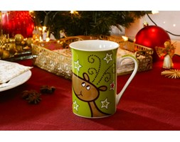 Kubek świąteczny VERONI RENIFER MERRY CHRISTMAS 300 ml - rabat 10 zł na pierwsze zakupy!