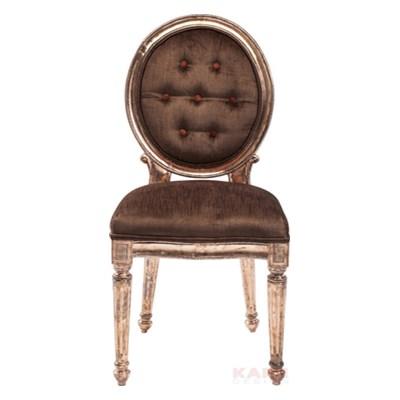 Kare Design Louis Krzesło Brązowe Miedź - 79187
