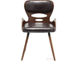 Kare Design East Side Brązowe Krzesło Z Podłokietnikami Drewno Skóra Eko - 79232