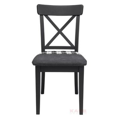 Kare Design Patchwork Pepita Czarne Krzesło Drewno Mdf Tkanina - 79371