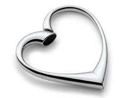 Przenośny wieszak, serce