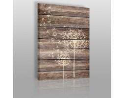 Dmuchawiec na drewnie - obraz na płótnie