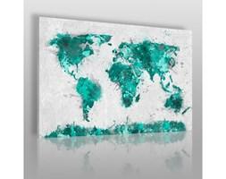 Mapa świata w turkusach