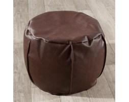 Dekoria pufa z granulatem okrągła, brąz (eko-skóra), fi50x35cm, Eco-leather