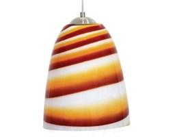 Lampa LORENC w paski biało-pomarańczowo-czerwona