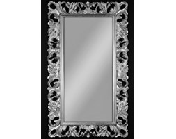 Ładne lustro kryształowe z ramą srebrną ażurową