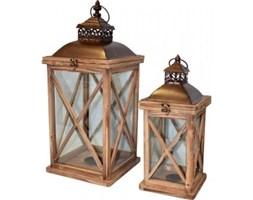 Komplet ładnych drewnianych lampionów