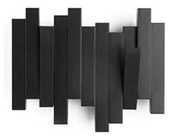 Umbra Sticks Black Czarny Wieszak Ścienny z Organizerem Mały - Dwa Haczyki - 318209-040