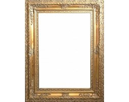 Lustro kryształowe oprawione w stylową złotą ramę