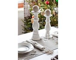 Dekoria Świecznik Vintage biały ceramika 36cm, 36cm