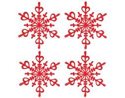 Ozdoba dekoracja świąteczna 4 szt. Koziol FLAKES XS czerwone kod: KZ-1127536 - do kupienia: www.superwnetrze.pl