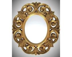 Piękne lustro w ażurowej złotej ramie 80x90