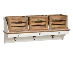 Garderoba z serii PROVANCE, matowa biel, skrzynie, naturalne drewno.
