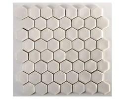 Mozaika sześciokątna, biała