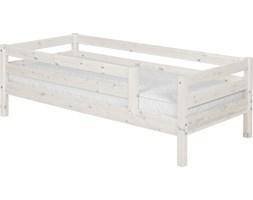 Łóżko pojedyncze Classic,poręcze 1/1 tylna i 3/4 z przodu, sosna bielona.
