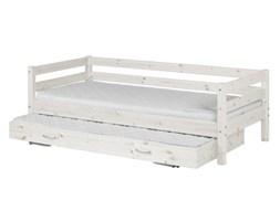 Łóżko Classic z łóżkiem wysuwanym, sosna bielona.