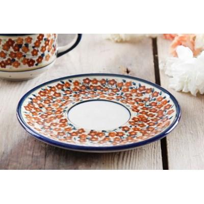 Ceramiczny talerzyk / Spodek GU-8831 DEK. DU52 Boles�awiec 16 cm (drugi gatunek) -- kremowy - rabat 10 z� na pierwsze zakupy!