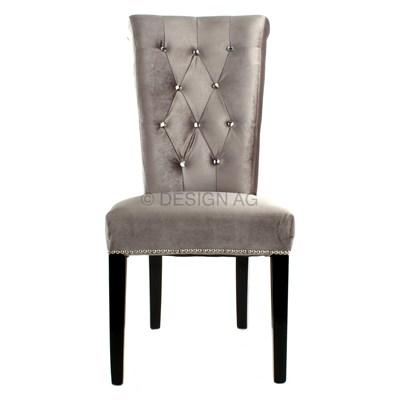 IiNTERIOR Barocco Krzesło Szare Tkanina 50x70cm - i12375