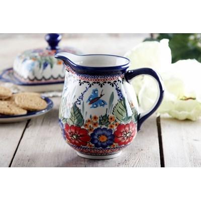 Dzbanek ceramiczny GU-951 DEK. 149 ART. Boles�awiec 0,9 l -- kremowy - rabat 10 z� na pierwsze zakupy!