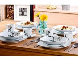Serwis obiadowy GAŁĄZKA na 6 osób (30 el.) -- biały - rabat 10 zł na pierwsze zakupy!