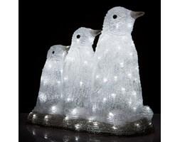 Pingwiny - zewnętrzna lampa dekoracyjna LED, 39 cm