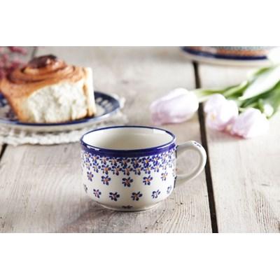 Fili�anka ceramiczna GU-886 DEK. 882A Boles�awiec 220 ml -- kremowy niebieski - rabat 10 z� na pierwsze zakupy!