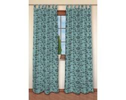 Dekoria Zasłona na szelkach 1 szt., brązowe wzory turkusowym tle, 1szt 130x260 cm, Modern/Trend
